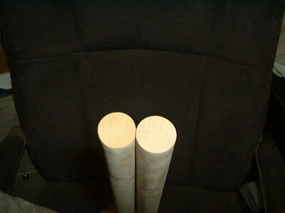 1 inch By 36 inch long round 10  Maple dowels