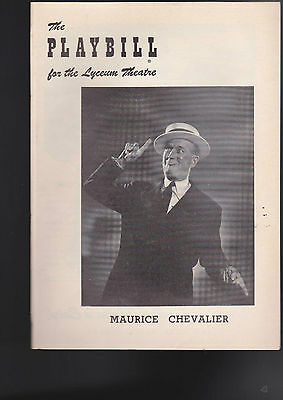 Maurice Chevalier Playbill- Songs and Impressions (Oct 3 1955)