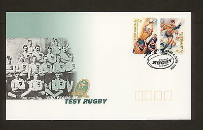 1999 FDC1887 TEST RUGBY Peel & Stick First Day Cover
