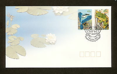 1999 FDC1917 SMALL POND LIFE Peel & Stick First Day Cover