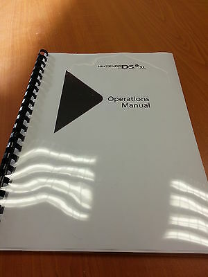 NINTENDO DSi XL FULL PRINTED USER MANUAL GUIDE INSTRUCTIONS 108 PAGES