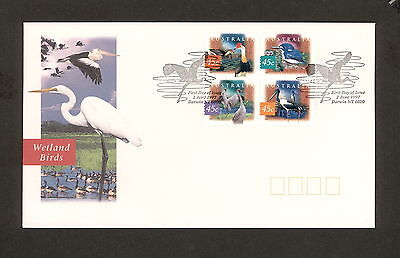 1997 FDC1684 WETLAND BIRDS BLOCK 4 First Day Cover