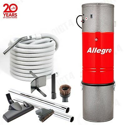 Allegro Central Vacuum Power Unit 3,000 sq. foot Home Attachment 50 foot Hose