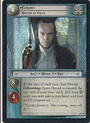 Lord of the Rings CCG - EOF - Elrond Keeper of Vilya #15 Rare
