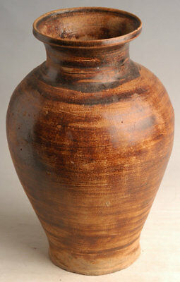 14th - 16th Century, Antique Sankampaeng Thai Pottery Brown Glazed Jar