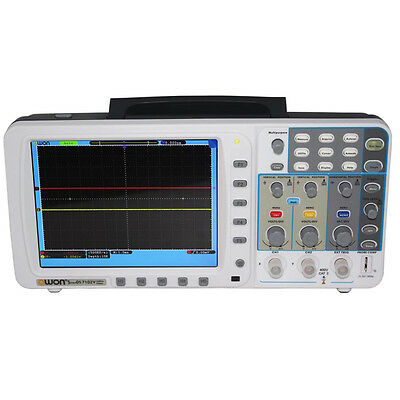 "OWON 100Mhz Oscilloscope SDS7102 1G/s large 8"" LCD 3 yrs wa LAN FFT free FW upgR"