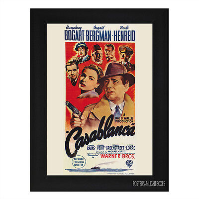 large framed poster movie casablanca � 163999 picclick uk