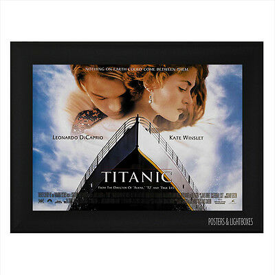 TITANIC DICAPRIO WINSLETT Framed Film Movie Poster A4 Black Frame