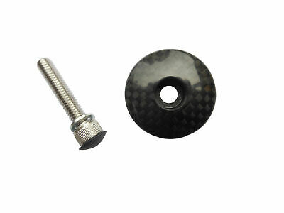 "Head Stem Cap 3k Carbon with Stainless Screw 1-1/8"" Bevato TCC103"