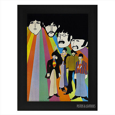 YELLOW SUBMARINE THE BEATLES Ref 01 Framed Film Movie Poster A4 Black Frame