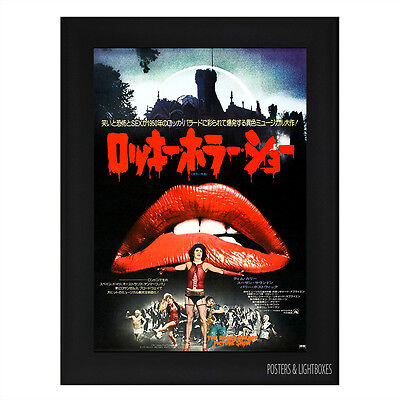 ROCKY HORROR PICTURE SHOW JAPANESE Framed Movie Film Poster A4 Black Frame