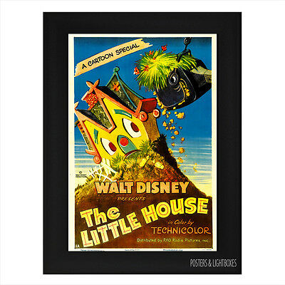 DISNEYS THE LITTLE HOUSE CLASSIC Framed Film Movie Poster A4 Black Frame