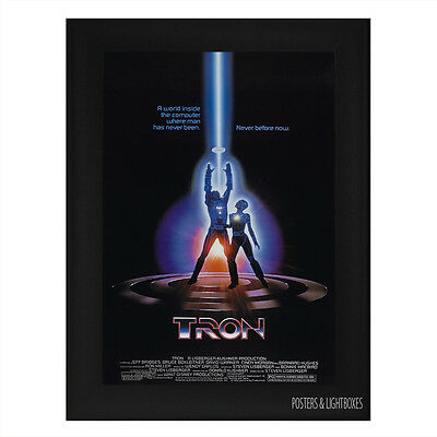 TRON ORIGINAL Ref 01 Framed Film Movie Poster A4 Black Frame