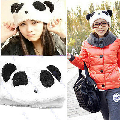 Cartoon Animal Cute Bear Panda Beanie Winter Fitted Warm Soft Hat For Girl