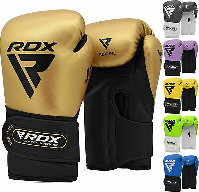 RDX Leather Gel Tech MMA UFC Grappling Gloves Fight Boxing Punch Bag P
