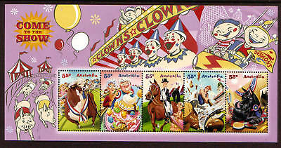 AUSTRALIA 2010 COME TO THE SHOW MINIATURE SHEET UNMOUNTED MINT, MNH