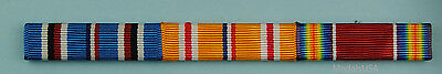 3 Ribbon Bar Asia Pacific  Theater World War Two - WWII -  clutch back - WW2