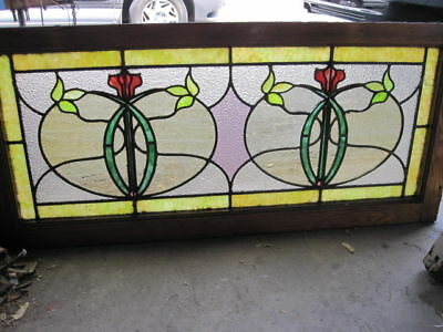 ~ Gorgeous Antique Stained Glass Window ~ Very Unique ~