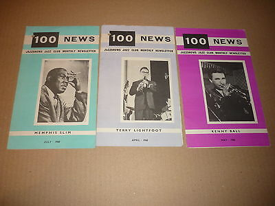 100 Club - Lot of 3 1960 Newsletters