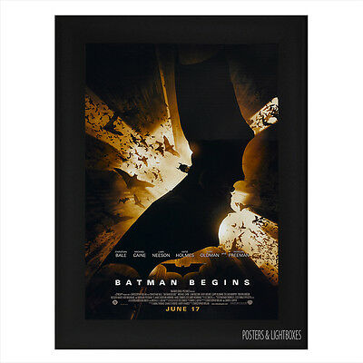 BATMAN BEGINS Framed Film Movie Poster A4 Black Frame