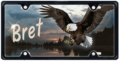 Eagle Mountains Sunset Auto License Plate Gifts Men Ladies Spiritual Personalize