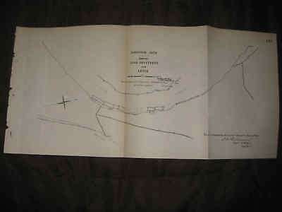 ANTIQUE 1892 ASHBROOK NECK MISSISSIPPI RIVER & STATE WASHINGTON COUNTY MAP NR