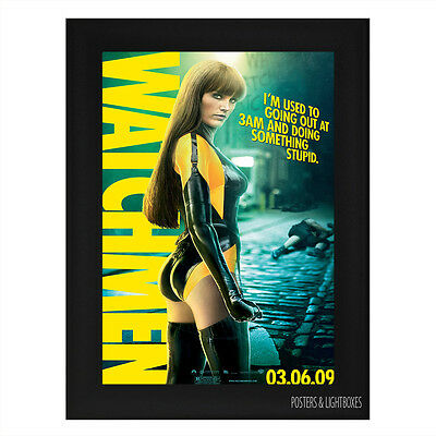 WATCHMEN Ref 09 Framed Film Movie Poster A4 Black Frame