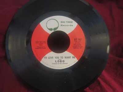 """Lobo""""Am I True To Myself/I'd Love You To Want Me""""/45/"""
