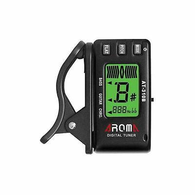 Aroma AT-310B Tuner, For Chromatic Guitar & Bass, Clip On Tuner