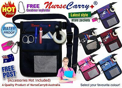 NURSE CARRY® POUCH POCKET Waist Bag Quick Pick Vet Nurses Belt + FREE Carabiner
