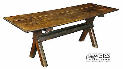 SWC-Rare Sawbuck Dining Table, Chestnut and Pine, RI