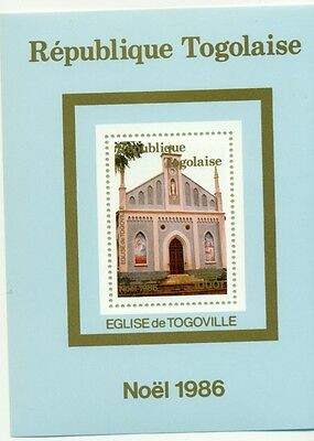 NATALE - CHRISTMAS TOGO 1986 Chiese Churches block