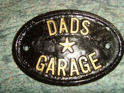 Dads Garage  New  Sign Fathers Day Workshop House Door Plaque