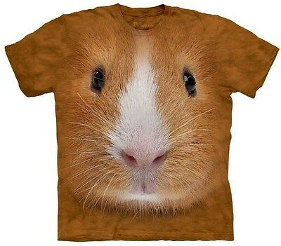 T Shirt Guinea Pig Face The Mountain Tee Animal Tan Youth Adult
