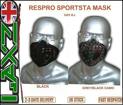 Respro Sportsta Anti-Pollution Bike Cycle Face Cover Mask Cycling Sports Bicycle