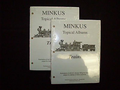 """Minkus 100 Topical Album Pages - Trains 8-1/2"""" x 11"""" New Unopened Packages!   """