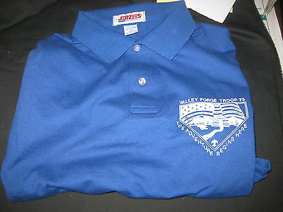 Valley Forge Troop 73 Blue Polo Shirt, size xl, lot of 2,         lpw