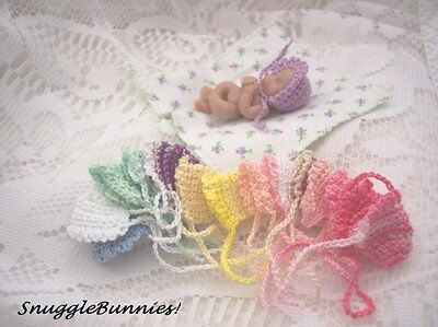 "Sweetest Lil Bonnet Fits 2-3"" Tiny Reborn Ooak Baby!"