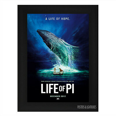 LIFE OF PI Ref 01 Framed Film Movie Poster A4 Black Frame