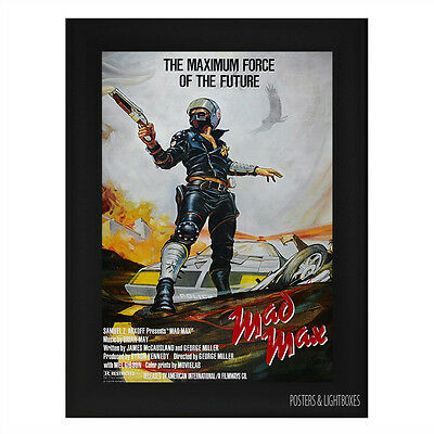 MAD MAX MEL GIBSON Framed Film Movie Poster A4 Black Frame