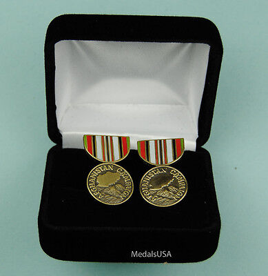 Afghanistan Campaign Medal Cufflinks in Presentation Gift Box Cuff Link 437