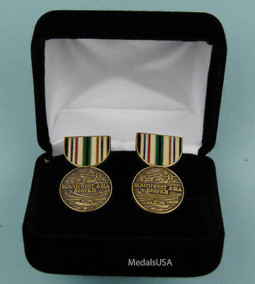 Southwest Asia Campaign Medal Cufflinks in Presentation Gift Box Cuff Link 437