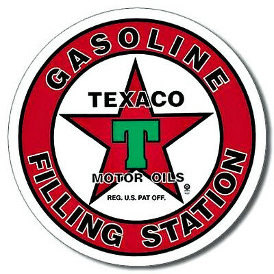 "NOSTALGIC Texaco 'T"" Filling Station Tin Metal Sign"