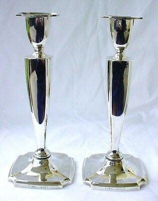 FINE TALL REED BARTON STERLING CANDLESTICKS ca1920 CLASSICS- QUALITY