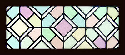 Victorian English Antique Stained Glass Window Wonderful Pastel Colours