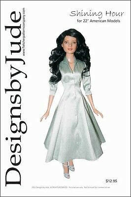 "Shining Hour Doll Clothes Sewing Pattern 22"" American Model Tonner"