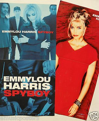 "EMMYLOU HARRIS ""SPYBOY"" 2-SIDED U.S. PROMO POSTER/BANNER - Folk, Bluegrass, Pop"