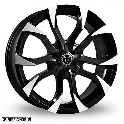 """15 """" Wolfrace Assassin Black Polished Alloy Wheels x4 to fit BMW Mini 00-06"""