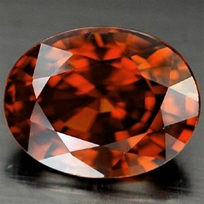 IF ~ 3.08 CT ~ Imperial Red Zircon ~ Oval ~  Natural Gemstone