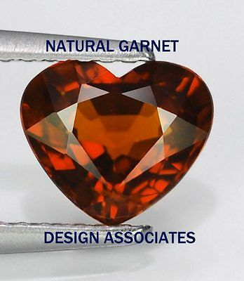 9 Mm Heart Cut Natural Red Garnet Vvs